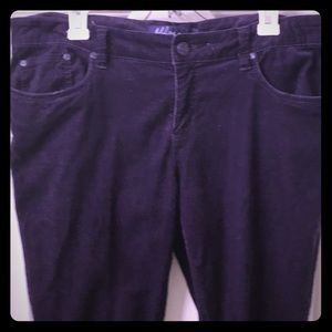 Pants - Luscious eggplant purple velvet/corduroys sz 17